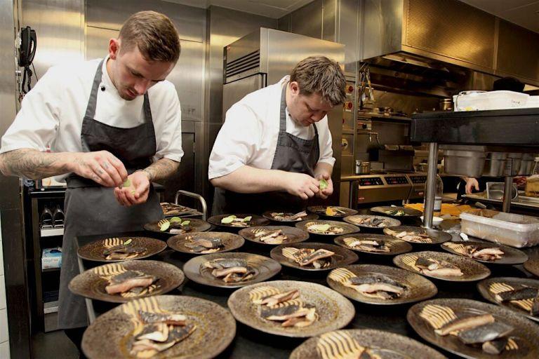 Chef Mark Greenaway at work. Photo: courtesy of Seafood Scotland