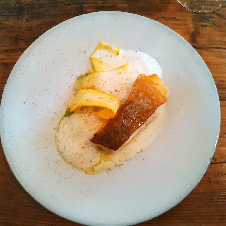 Line Caught Cornish Cod, Creamed Potato, Courgette & Kaffir Lime