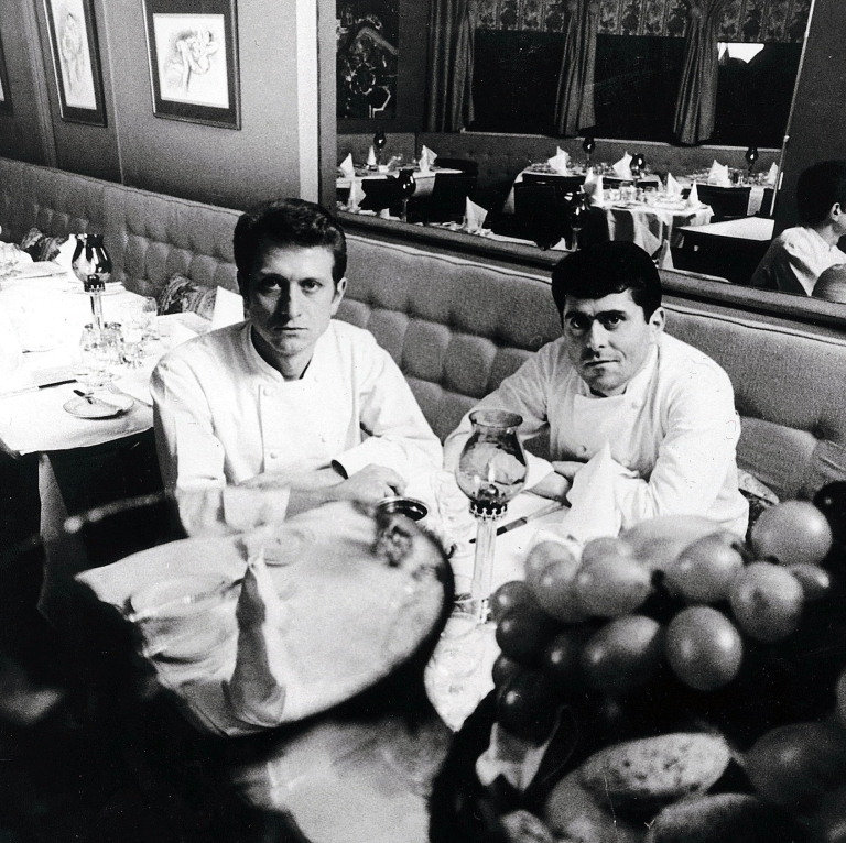 The legendary Roux brothers. Photo: courtesy of Le Gavroche