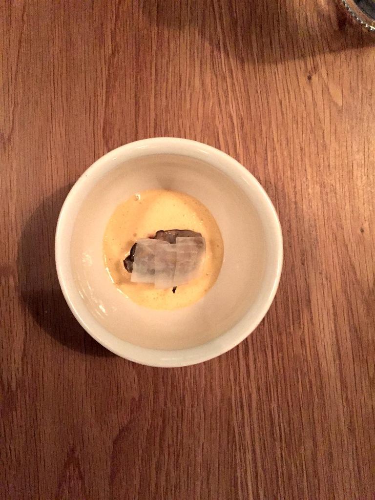 """Maldon oyster, """"Prince de Paris"""" and Camembert"""