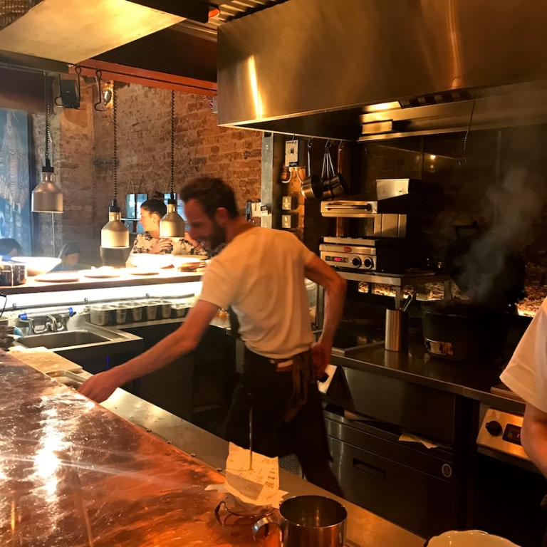 Chris Denney, the head chef, at work