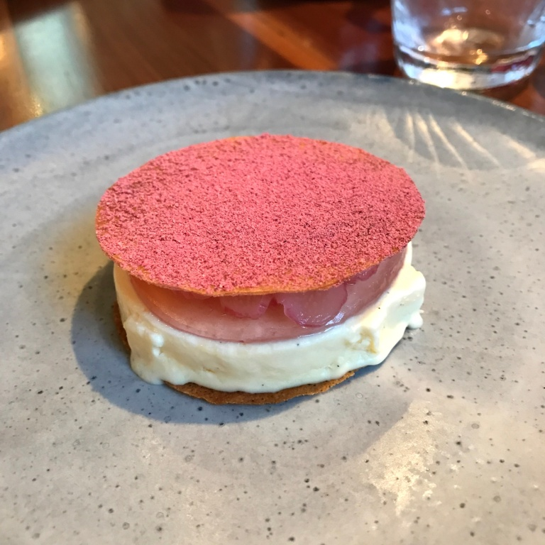 Yorkshire Rhubarb, sheep's milk yoghurt & rose